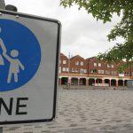 Der Rathausplatz in Voerde soll reine Fußgängerzone bleiben. Foto: Gerd Hermann / FFS FUNKE Foto Services