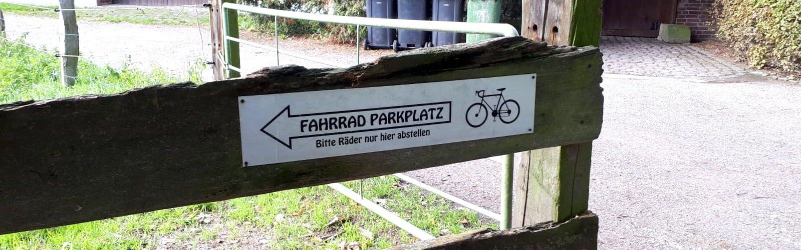 Fahrrad Parkplatz Baerlaghof Foto: Anne Beier, ADFC Dinslaken-Voerde