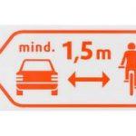 1,5 Meter Abstand beim Überholen von Radfahrer*innen Foto: ADFC Köln