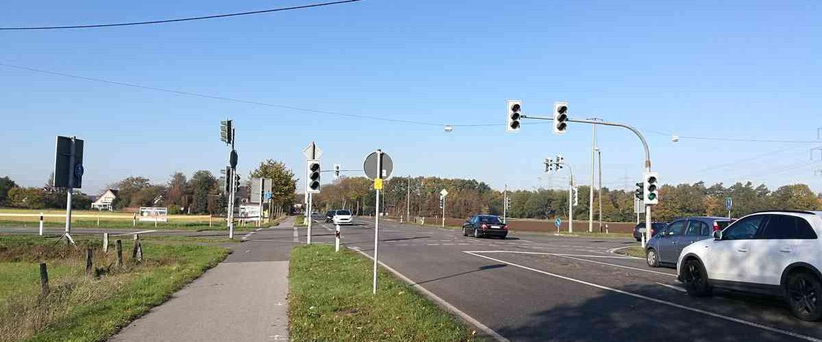 Auch an der Kreuzung an der Grenzstraße herrscht Nachrüstbedarf. Foto: BS